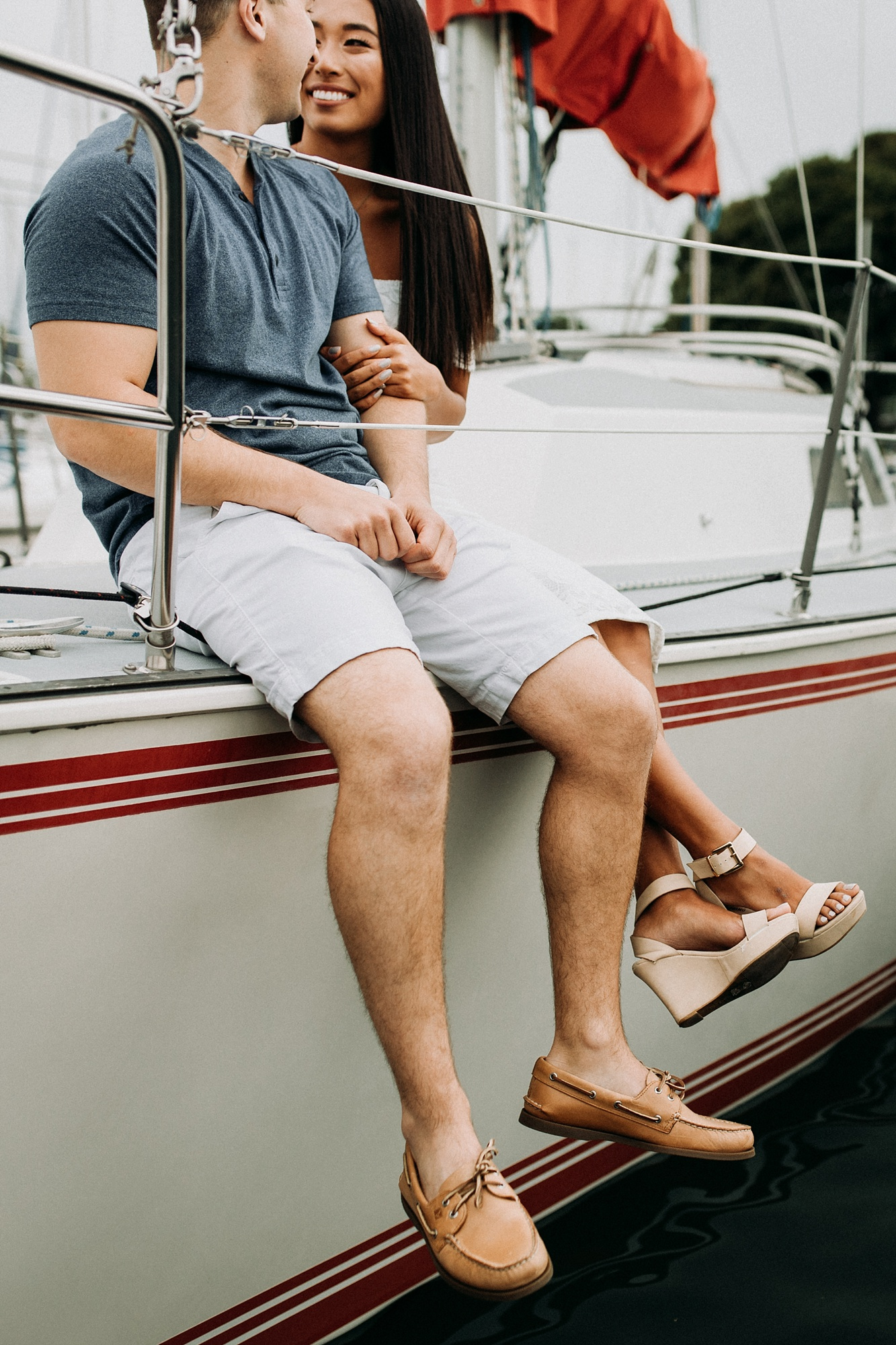 yacht club engagement session