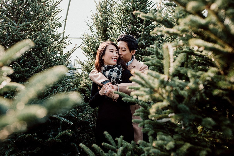 Christmas tree family photography Calgary
