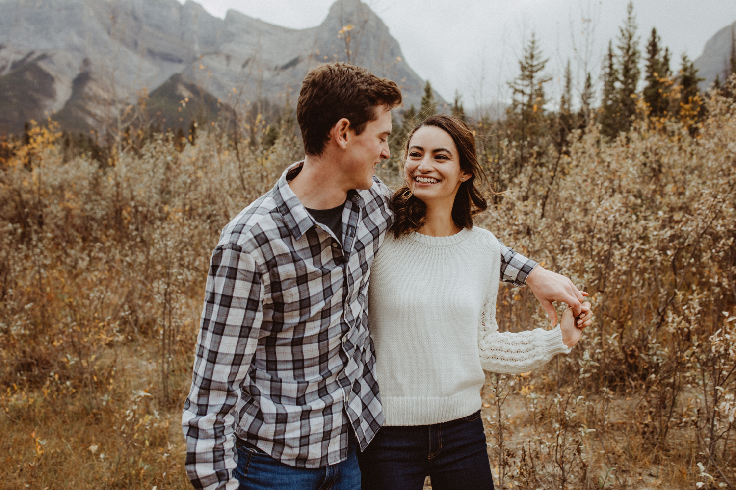 Engagement photography a couple walking
