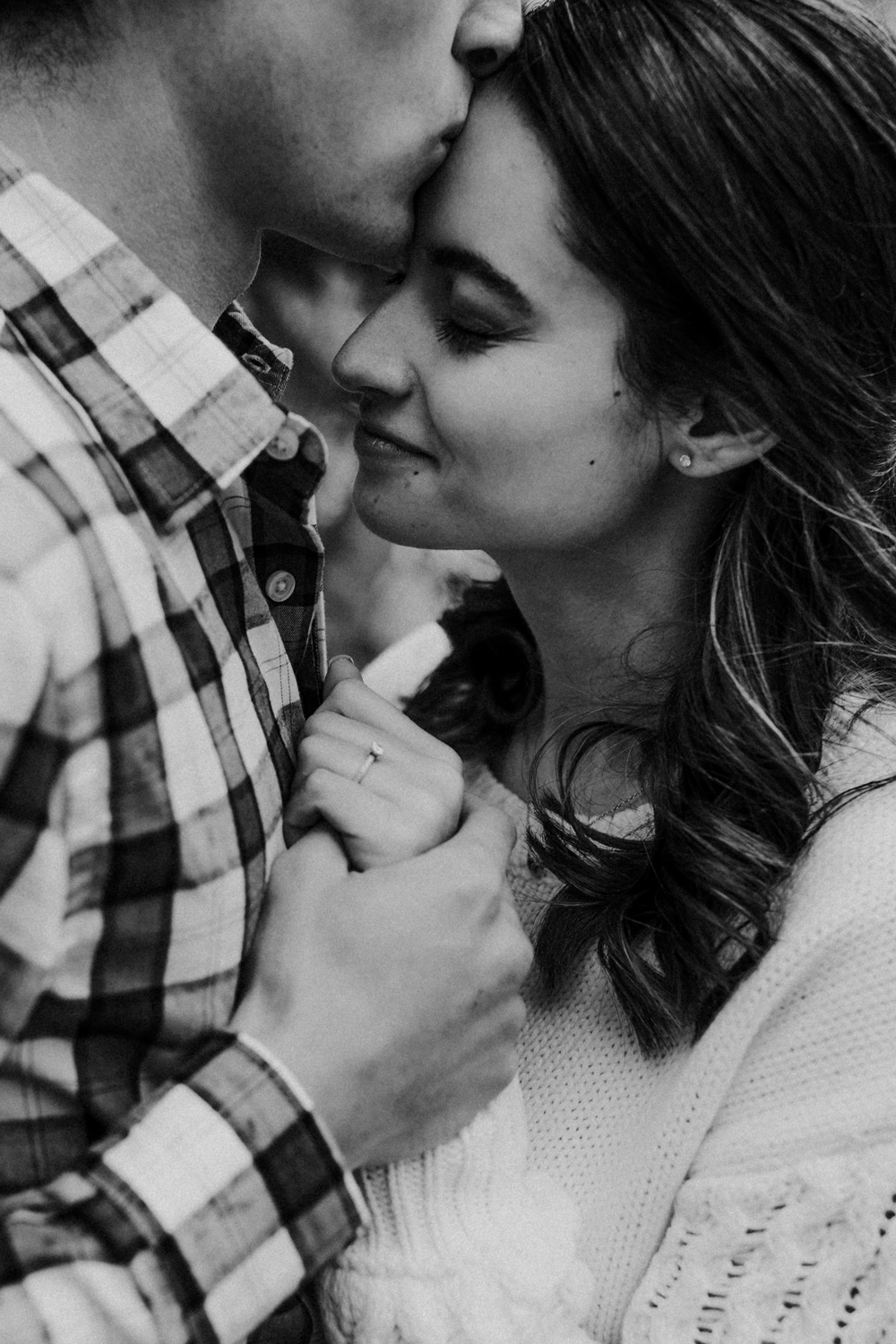 Engagement photography close-up