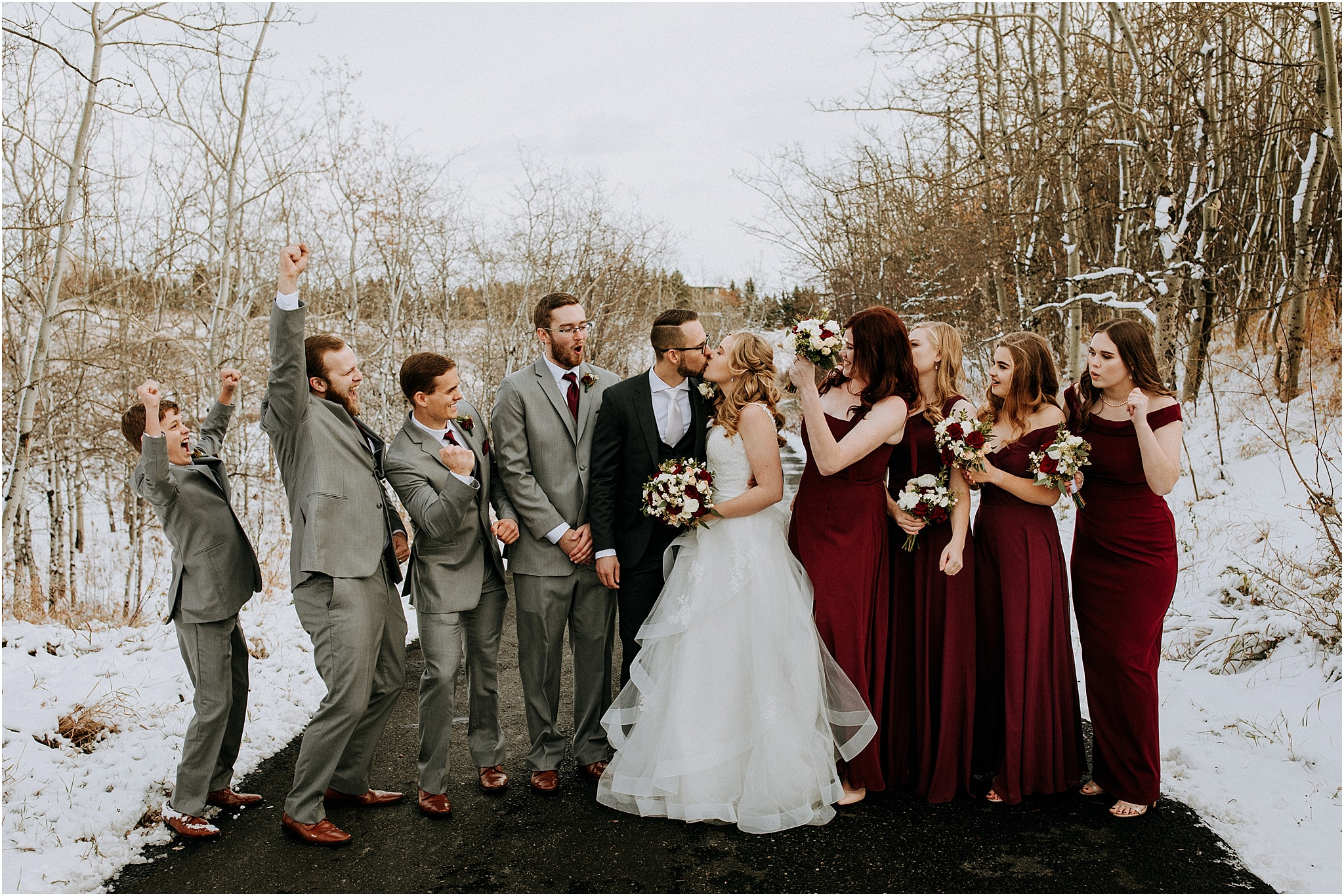 Wedding party The Ridge Okotoks