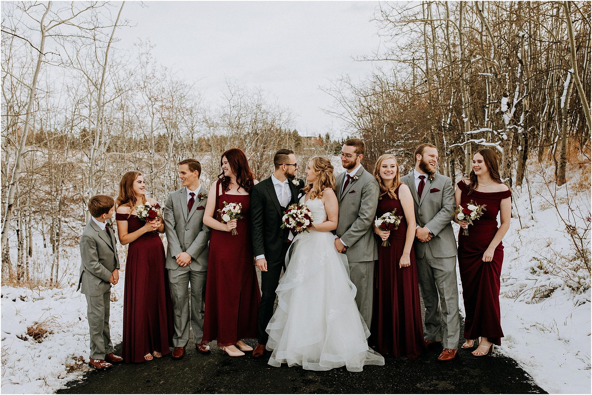 Snowy wedding The Ridge Okotoks