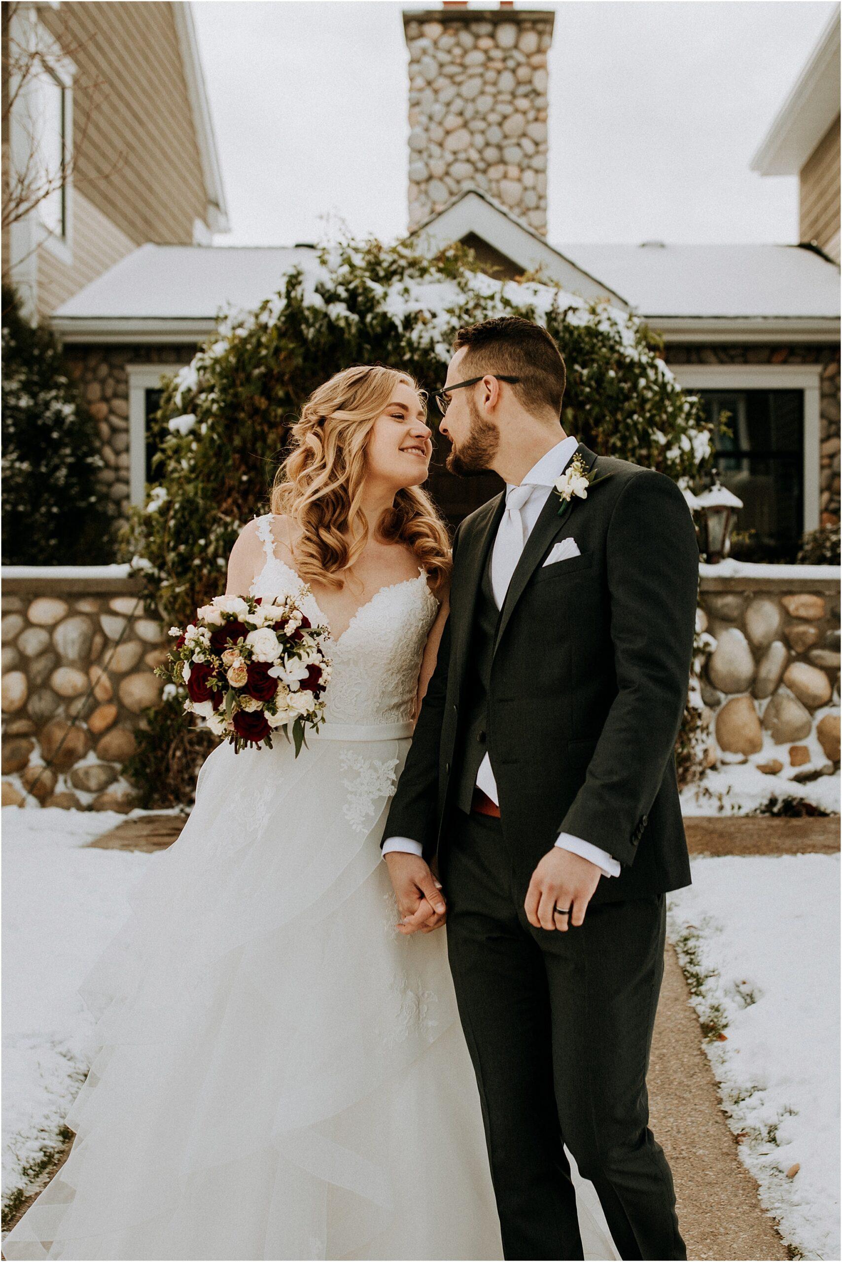 Bride and groom The Ridge Okotoks
